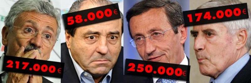 Politici e pensioni d'oro: 90.000 mila euro ed oltre al mese